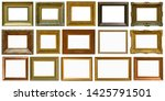 gold antique picture frame... | Shutterstock . vector #1425791501