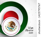 16 september  mexico happy... | Shutterstock .eps vector #1425795767