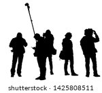 big crowds people on white... | Shutterstock .eps vector #1425808511