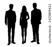 vector silhouettes of  men and... | Shutterstock .eps vector #1425809621