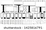 blank silhouettes of billboard  ... | Shutterstock .eps vector #1425816791
