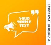 sample text frame design vector ... | Shutterstock .eps vector #1425820697