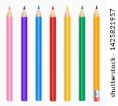 collection of colour pencils... | Shutterstock .eps vector #1425821957