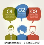 people chatting. vector... | Shutterstock .eps vector #142582249
