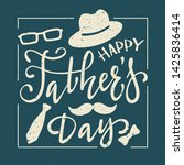happy father's day greeting... | Shutterstock . vector #1425836414