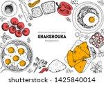 shakshouka cooking and...   Shutterstock .eps vector #1425840014