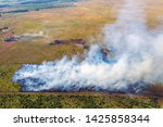 aerial view of wildfire in...   Shutterstock . vector #1425858344