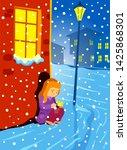 the little match girl fairy... | Shutterstock .eps vector #1425868301