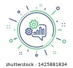 cogwheel chat line icon.... | Shutterstock .eps vector #1425881834