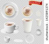 3d realistic mocha coffee in... | Shutterstock .eps vector #1425891374