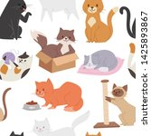 seamless pattern with cute... | Shutterstock .eps vector #1425893867