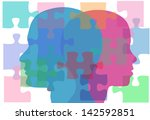 couple man and woman face... | Shutterstock .eps vector #142592851