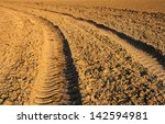 Tractor Traces In Ground