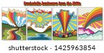 psychedelic landscapes from the ...   Shutterstock .eps vector #1425963854
