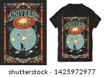 human and universe. father and... | Shutterstock .eps vector #1425972977