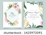 summer green and golden wedding ... | Shutterstock .eps vector #1425973391