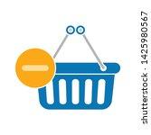 delete from shopping basket... | Shutterstock .eps vector #1425980567
