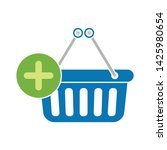 add to shopping basket icon.... | Shutterstock .eps vector #1425980654