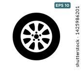 tyre   wheel car icon vector... | Shutterstock .eps vector #1425986201