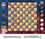 A Snake Ladder Game Template...