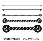 black rope with white...   Shutterstock .eps vector #1425993647