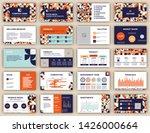 pitch deck presentation design... | Shutterstock .eps vector #1426000664