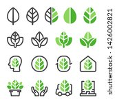 green leaf and eco concept icon ... | Shutterstock .eps vector #1426002821