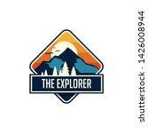 mountain travel emblems.... | Shutterstock .eps vector #1426008944