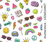 seamless pattern of girl...   Shutterstock .eps vector #1426014407