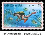 grenada   circa 1976  a stamp...   Shutterstock . vector #1426025171