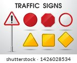 empty traffic signs isolate on... | Shutterstock .eps vector #1426028534