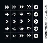 25 arrow sign icon set 07 ... | Shutterstock .eps vector #142603021