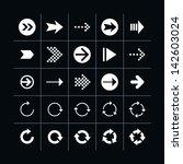 25 arrow sign icon set 03 ...
