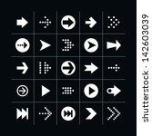 25 arrow sign icon set 01 ...