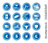 set trading icons  on a white... | Shutterstock .eps vector #142603369