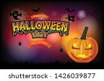 halloween party poster with... | Shutterstock .eps vector #1426039877