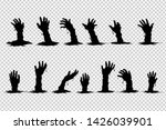 hand ghosts rising from the... | Shutterstock .eps vector #1426039901