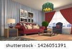 interior of the living room. 3d ... | Shutterstock . vector #1426051391