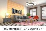 interior of the living room. 3d ... | Shutterstock . vector #1426054577