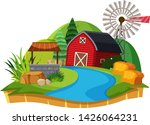 isolated hill on white... | Shutterstock .eps vector #1426064231