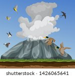 nature illustration with small... | Shutterstock .eps vector #1426065641
