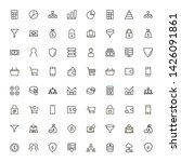 line icon set. collection of... | Shutterstock .eps vector #1426091861