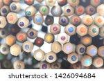 colored pencils stacked. random ... | Shutterstock . vector #1426094684