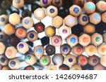 colored pencils stacked. random ... | Shutterstock . vector #1426094687