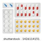 realistic pills packing vector. ... | Shutterstock .eps vector #1426114151