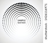 halftone dots in circle form.... | Shutterstock .eps vector #1426116971