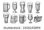 hand drawn glass with foam... | Shutterstock .eps vector #1426142894