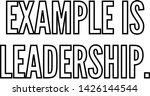 example is leadership outlined... | Shutterstock .eps vector #1426144544