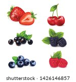 berry fruit realistic set with... | Shutterstock .eps vector #1426146857