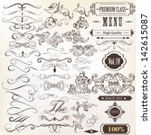 vector set of calligraphic... | Shutterstock .eps vector #142615087